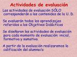 actividades de evaluaci n2
