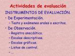 actividades de evaluaci n3