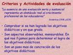 criterios y actividades de evaluaci n
