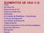 elementos de una u d2