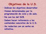 objetivos de la u d