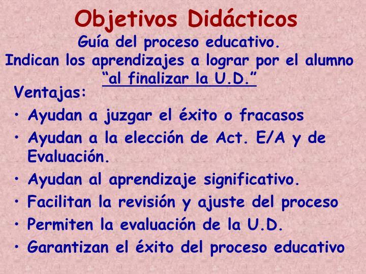 Objetivos Didácticos