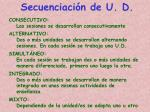 secuenciaci n de u d