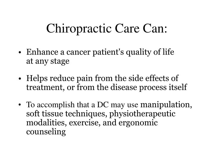 Chiropractic Care Can: