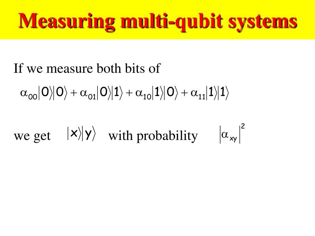 Measuring multi-qubit systems