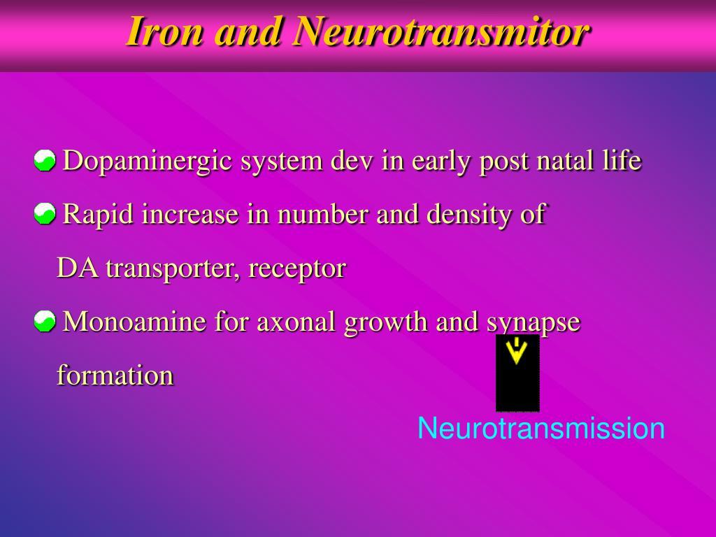 Iron and Neurotransmitor