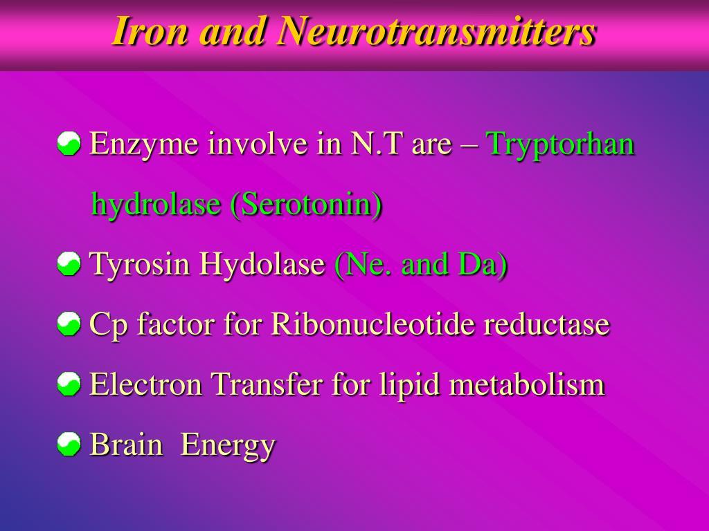 Iron and Neurotransmitters