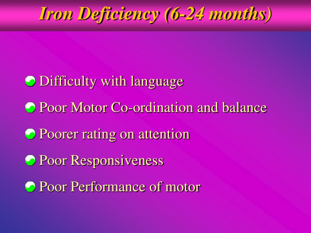 Iron Deficiency (6-24 months)