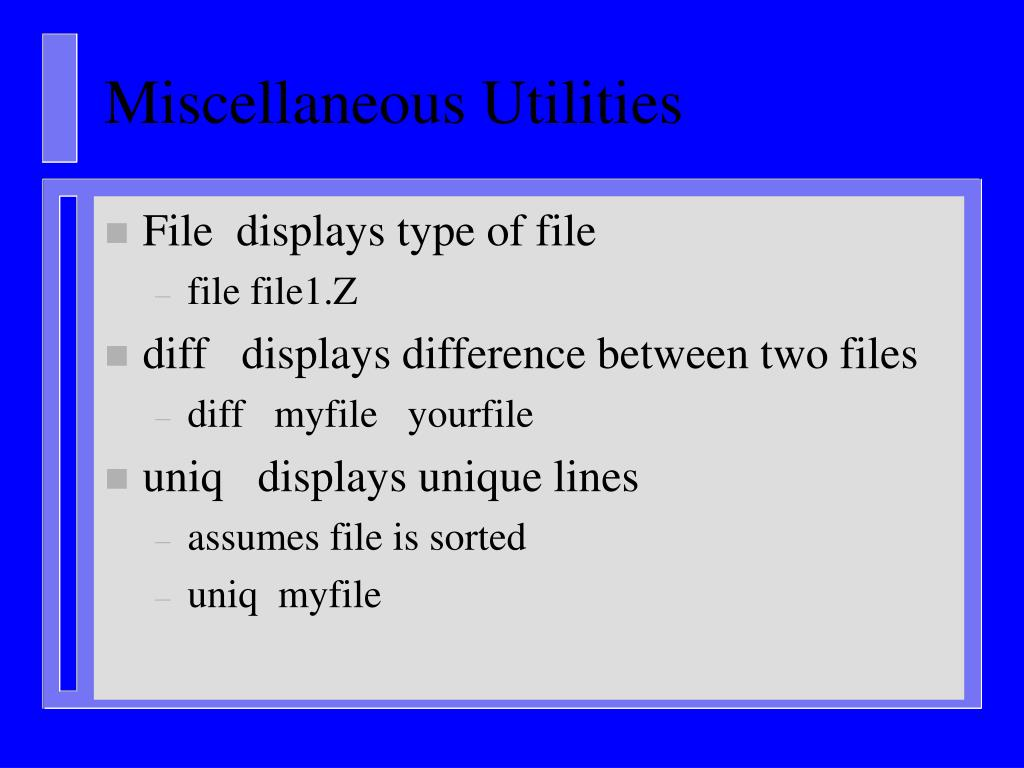 Miscellaneous Utilities