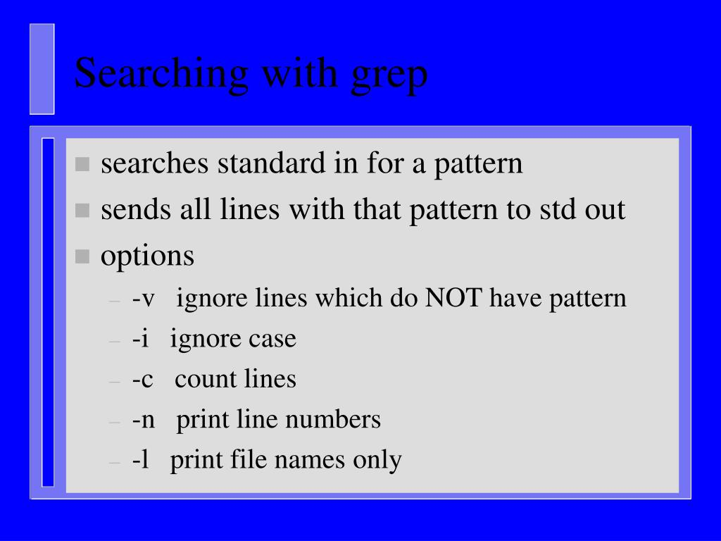 Searching with grep