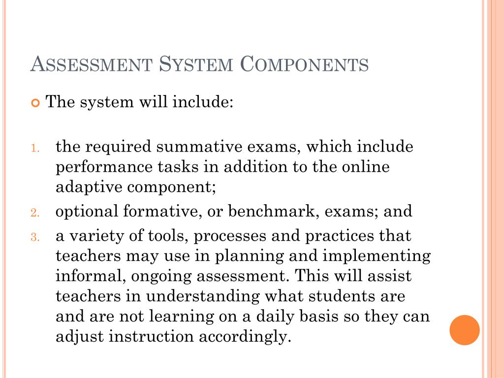 Assessment System Components