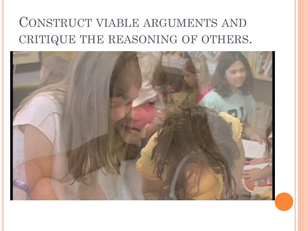 Construct viable arguments and critique the reasoning of others.