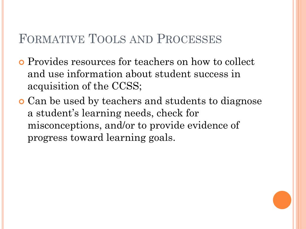 Formative Tools and Processes