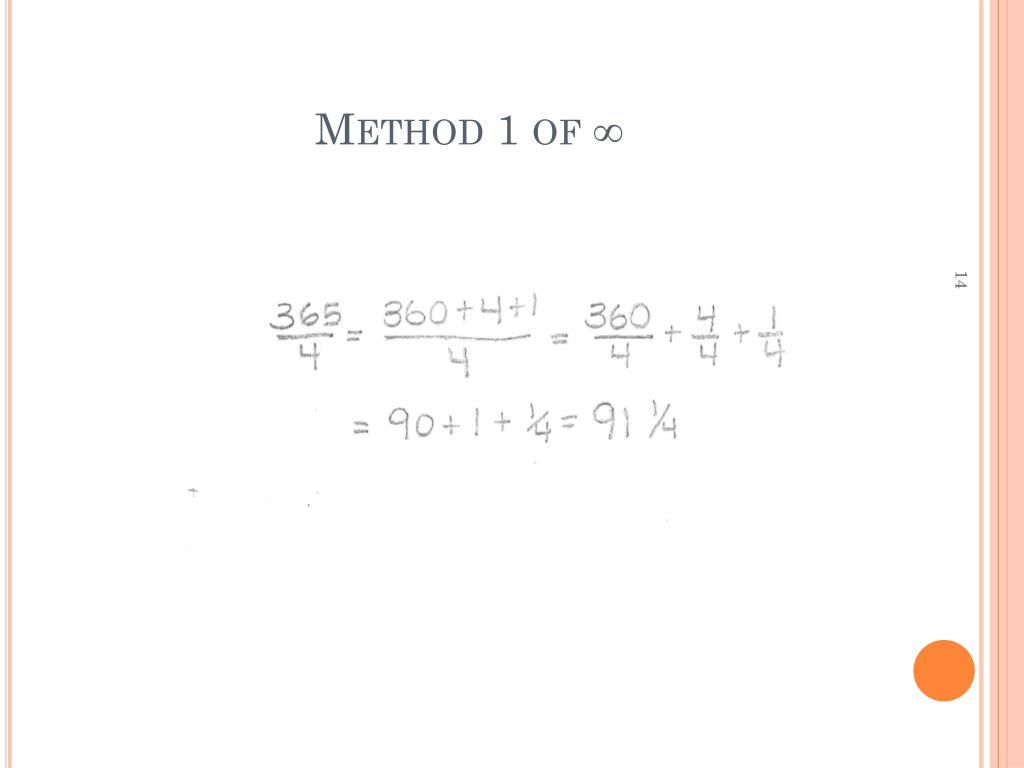 Method 1 of ∞