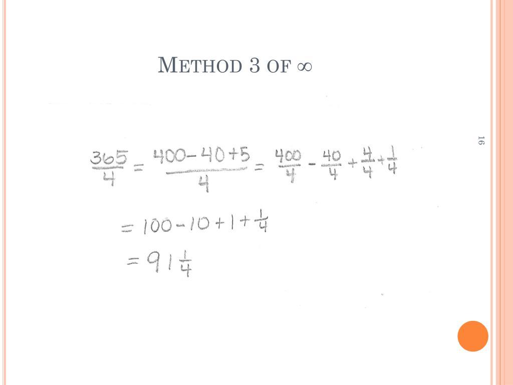 Method 3 of ∞