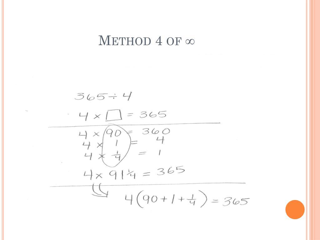 Method 4 of ∞