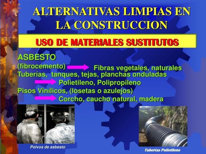 Polvos de asbesto