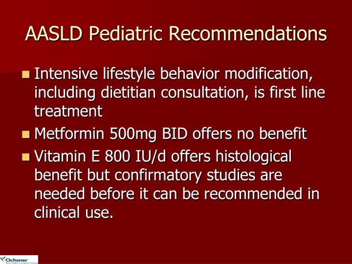 AASLD Pediatric Recommendations