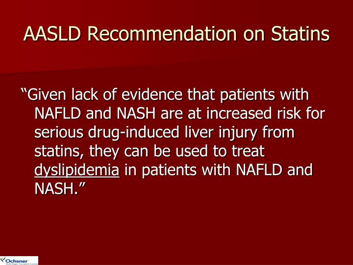 AASLD Recommendation on Statins