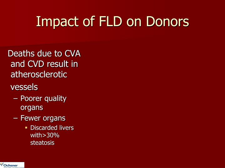 Impact of FLD on Donors
