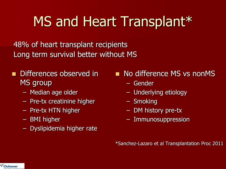 MS and Heart Transplant*
