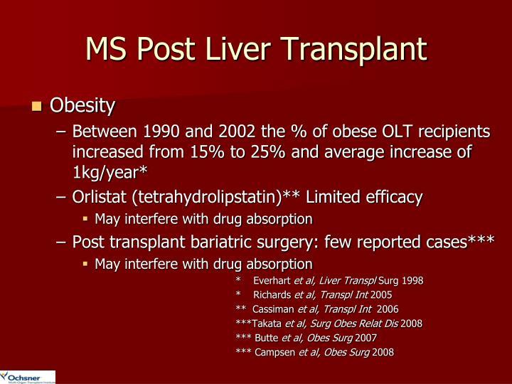 MS Post Liver Transplant