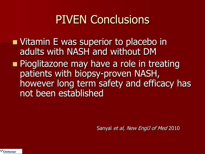 PIVEN Conclusions