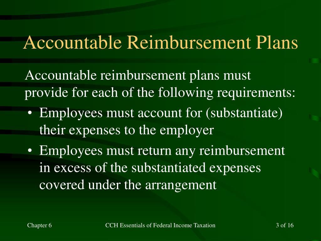 Accountable Reimbursement Plans