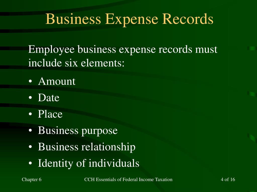 Business Expense Records