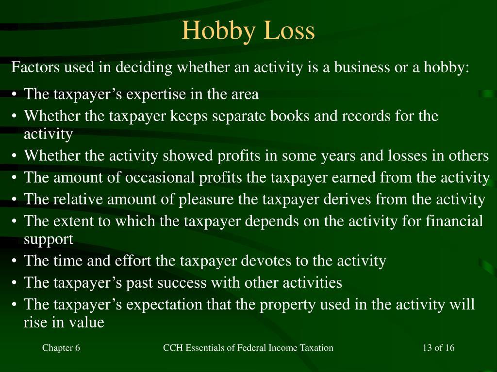 Hobby Loss