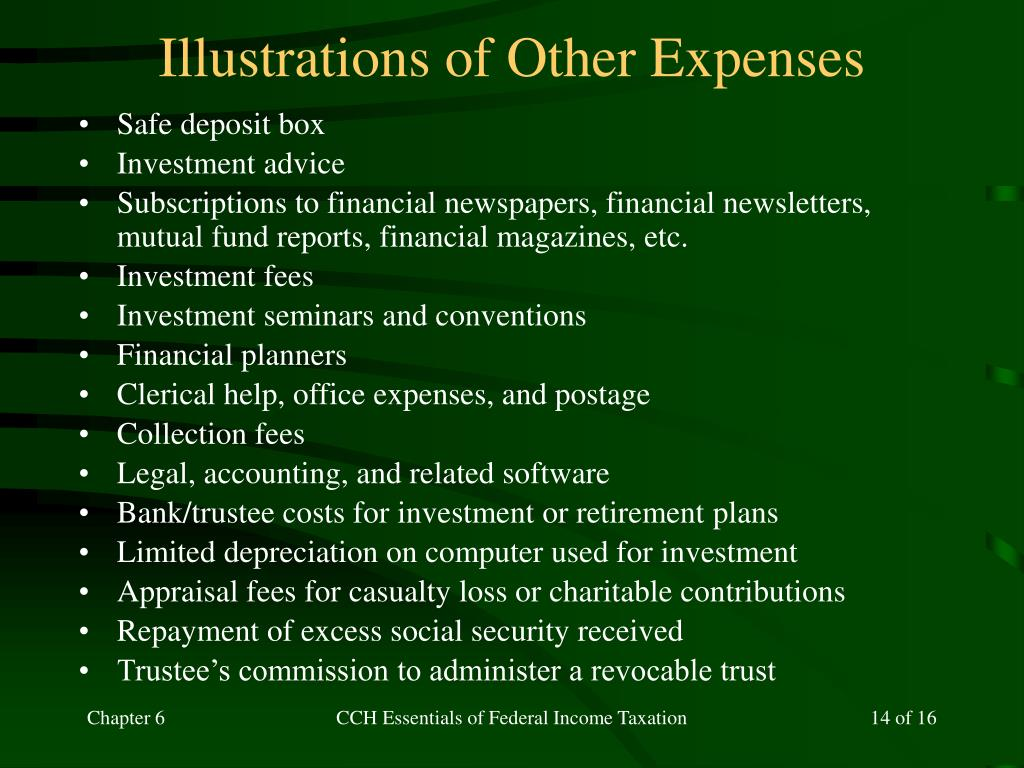 Illustrations of Other Expenses
