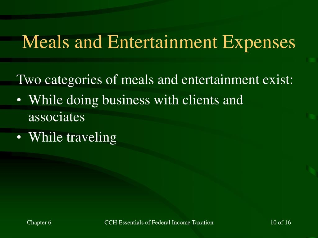 Meals and Entertainment Expenses