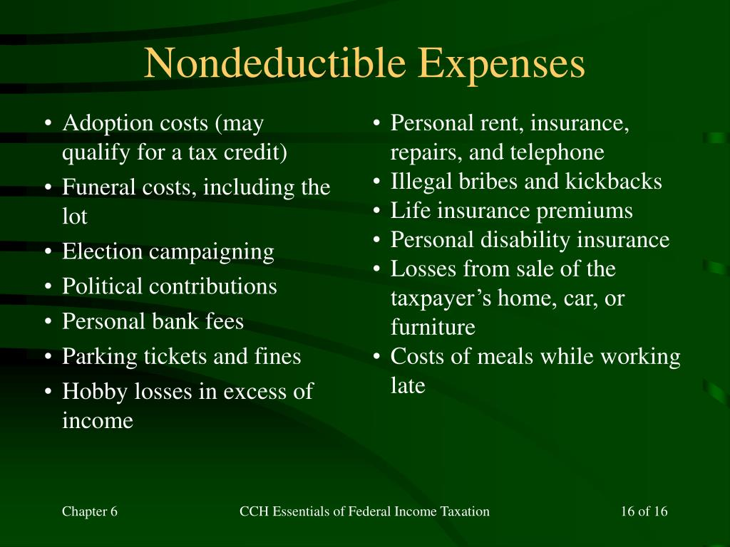 Nondeductible Expenses