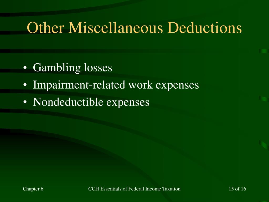 Other Miscellaneous Deductions