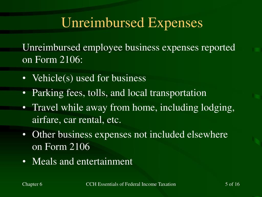 Unreimbursed Expenses