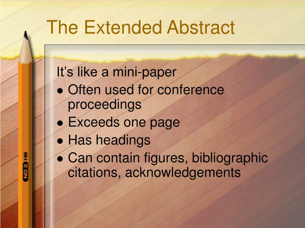 The Extended Abstract