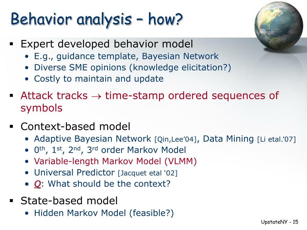 Behavior analysis – how?