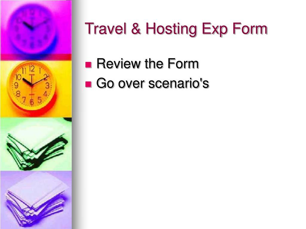Travel & Hosting Exp Form