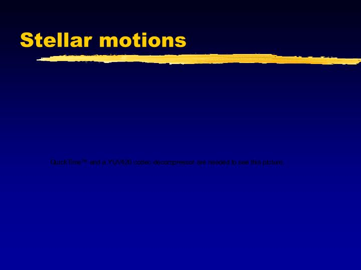 Stellar motions