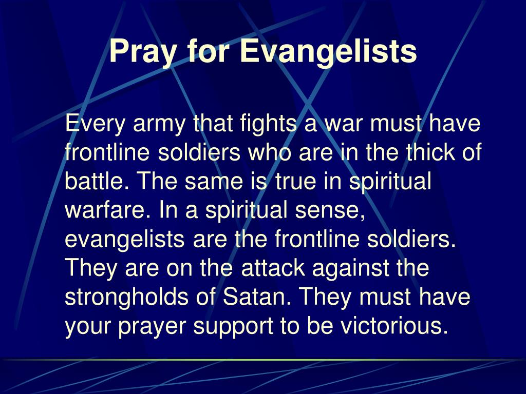 Pray for Evangelists