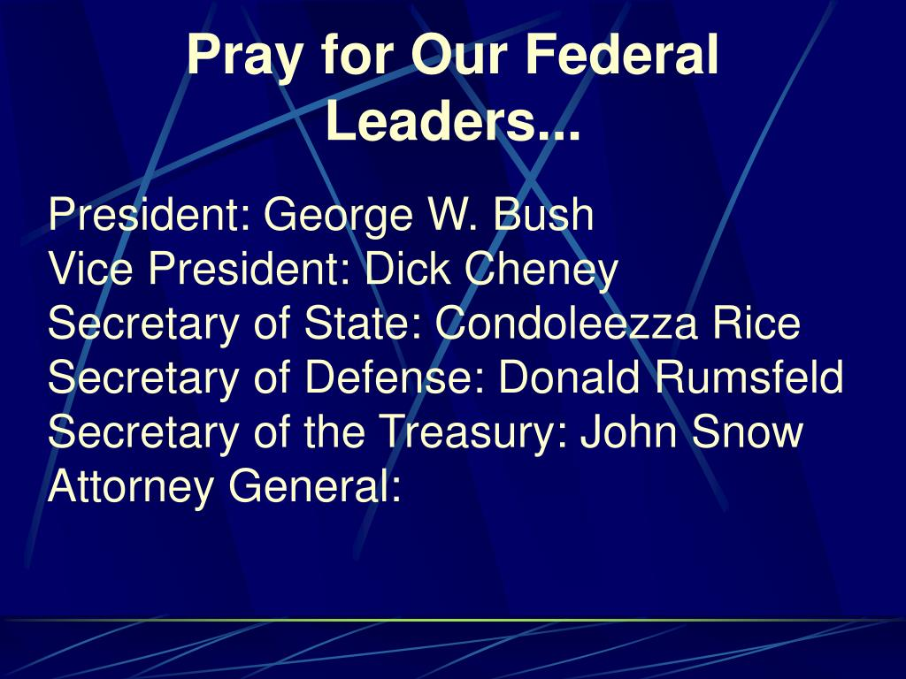 Pray for Our Federal Leaders...