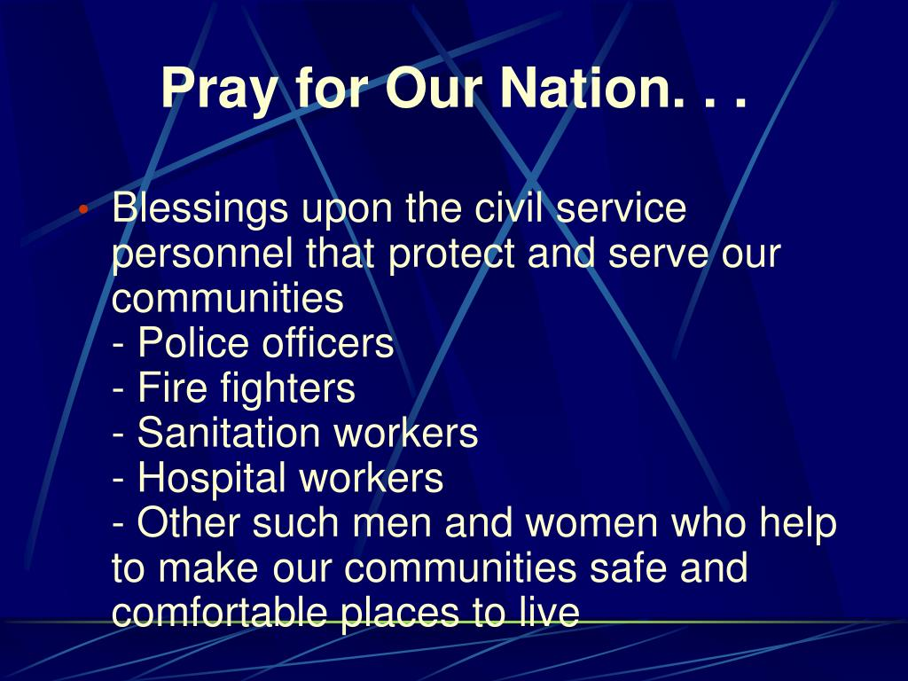 Pray for Our Nation. . .