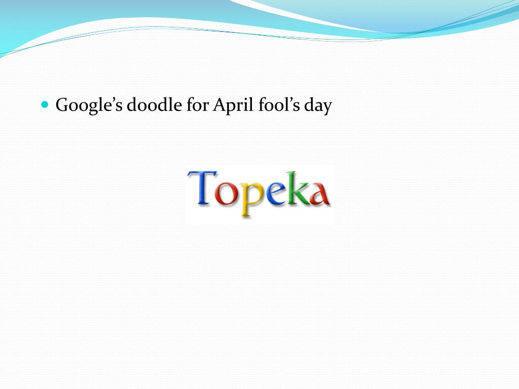 Google's doodle for April fool's day
