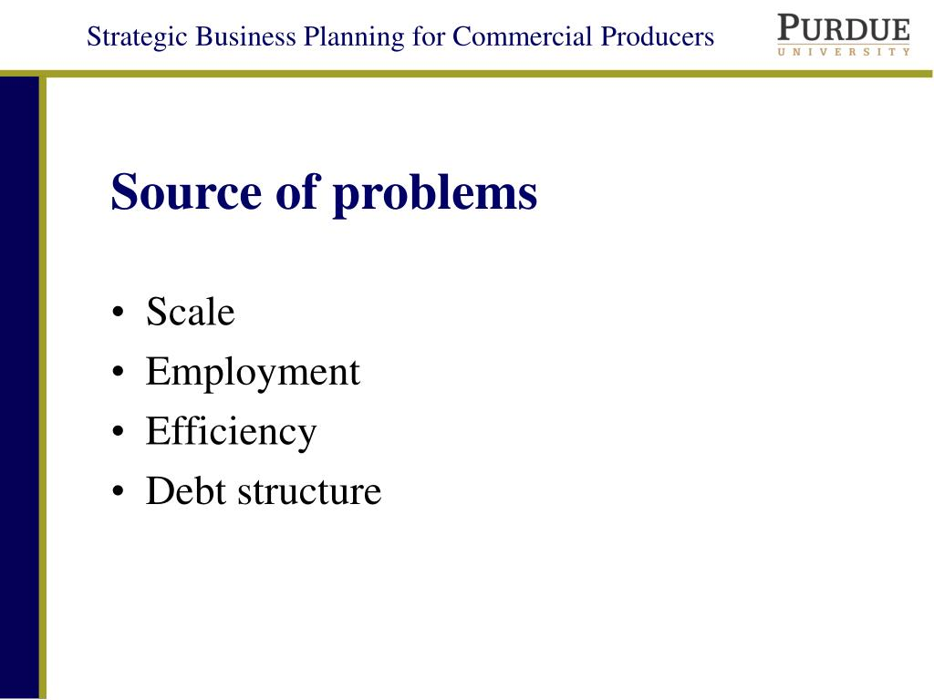 Source of problems