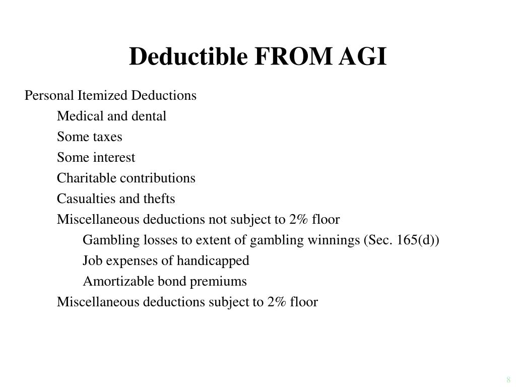 Deductible FROM AGI