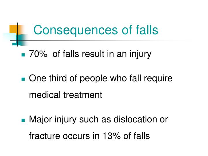 Consequences of falls