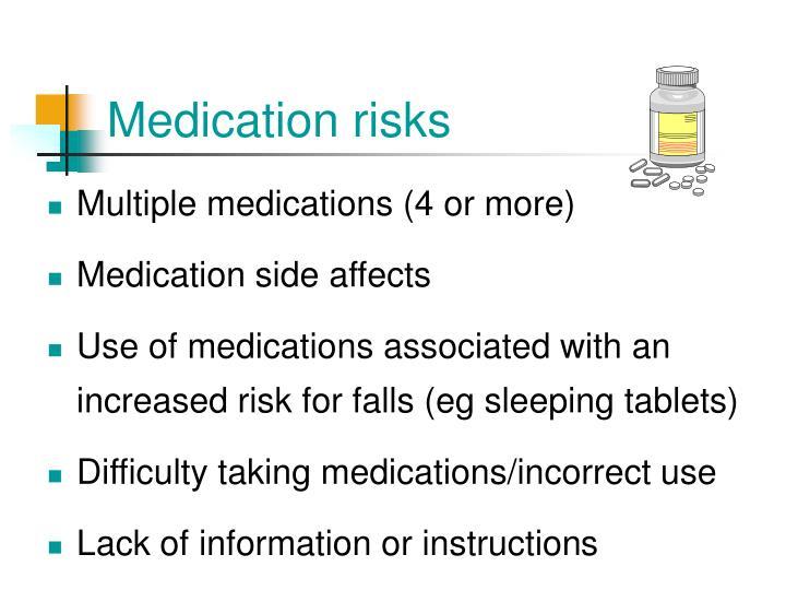 Medication risks