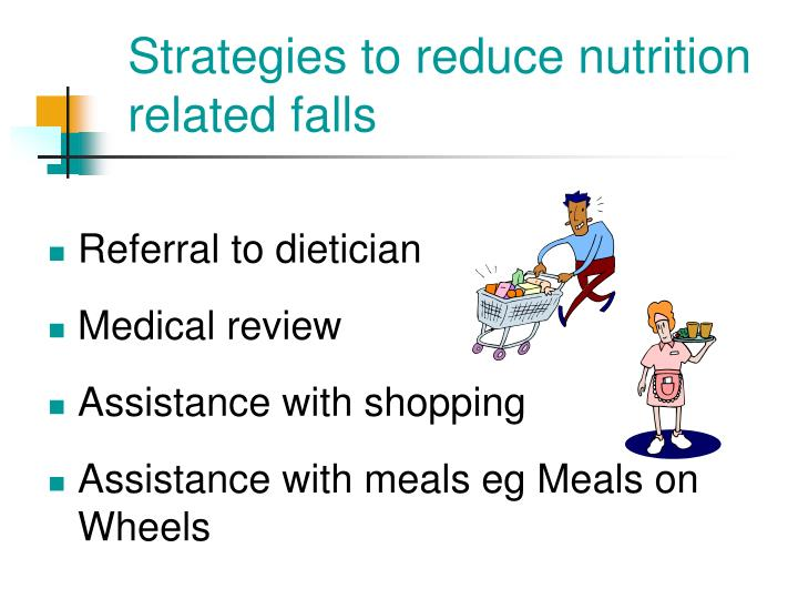 Strategies to reduce nutrition related falls