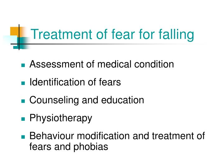 Treatment of fear for falling