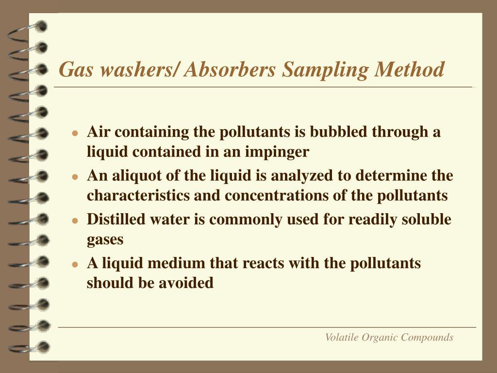 Gas washers/ Absorbers Sampling Method